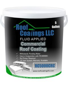 RC5000CRC High Build Modified Acrylic Commercial Roof  Coating System  White